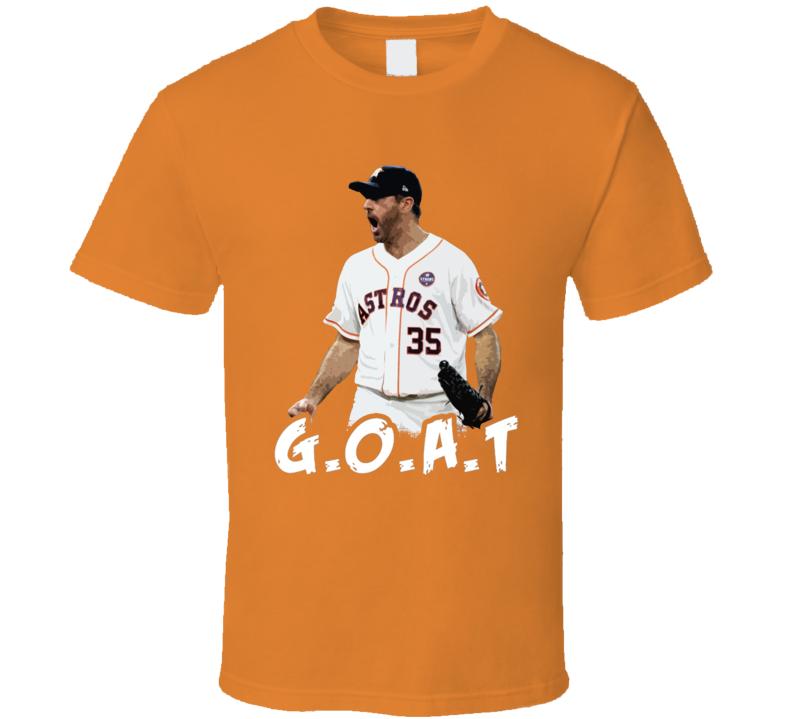 Justin Verlander GOAT Houston baseball Fan Gift Essential T Shirt