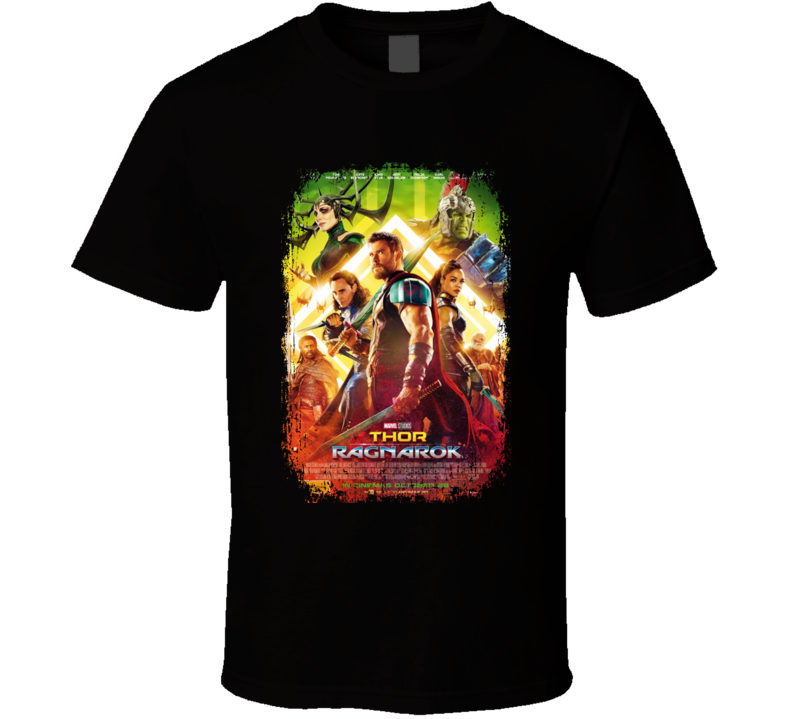 Thor Ragnarok Marvel Superhero Action Movie Poster Fan Gift T Shirt