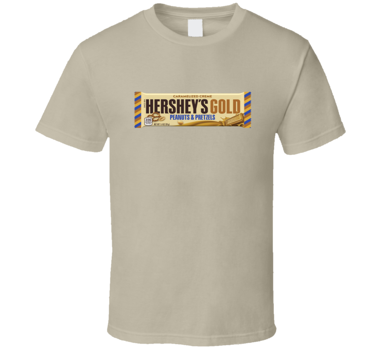 Hershey's New Gold Candy Bar Sweet Tooth Junk Food Lover Gift T Shirt