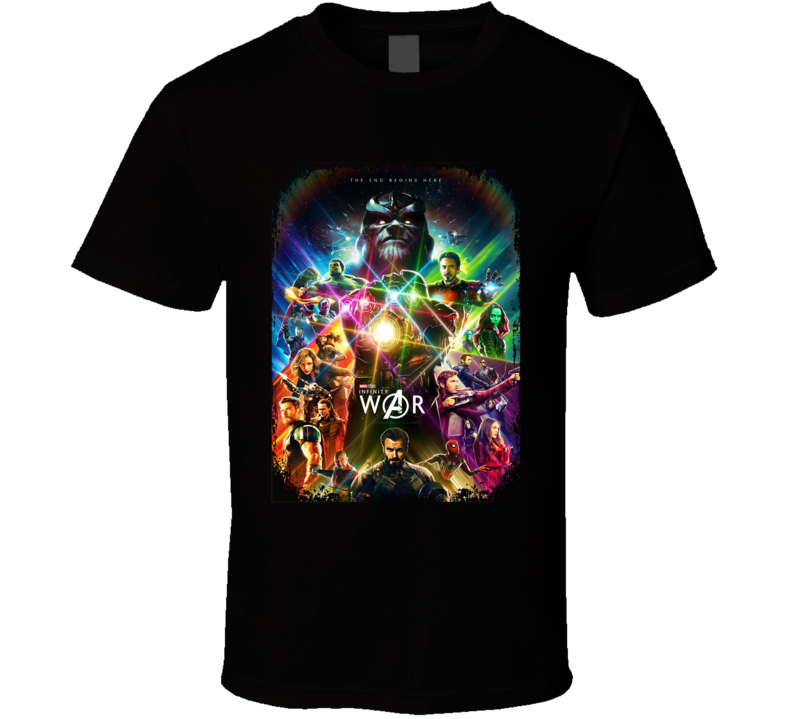 Marvel Infinity War Superhero Action Movie Super Fan Gift T Shirt