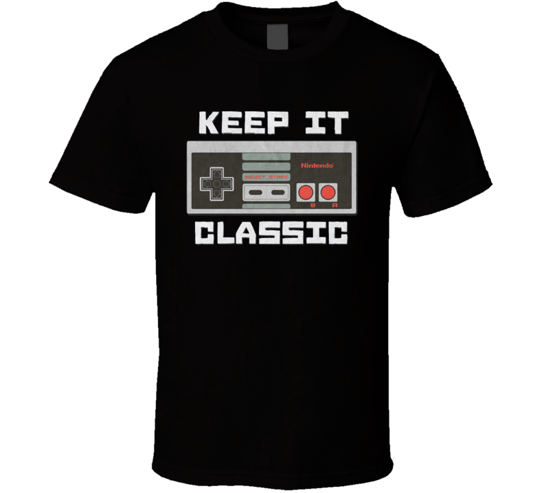 Nintendo NES Classic Retro Gamer Super Fan T Shirt