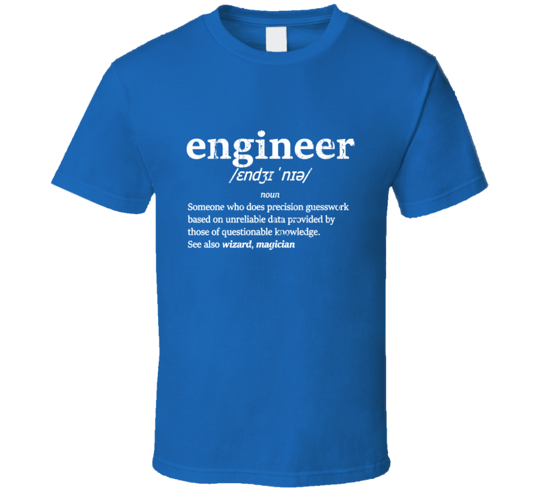 The Definition Of Engineer Funny Occupation Cool Gift T Shirt