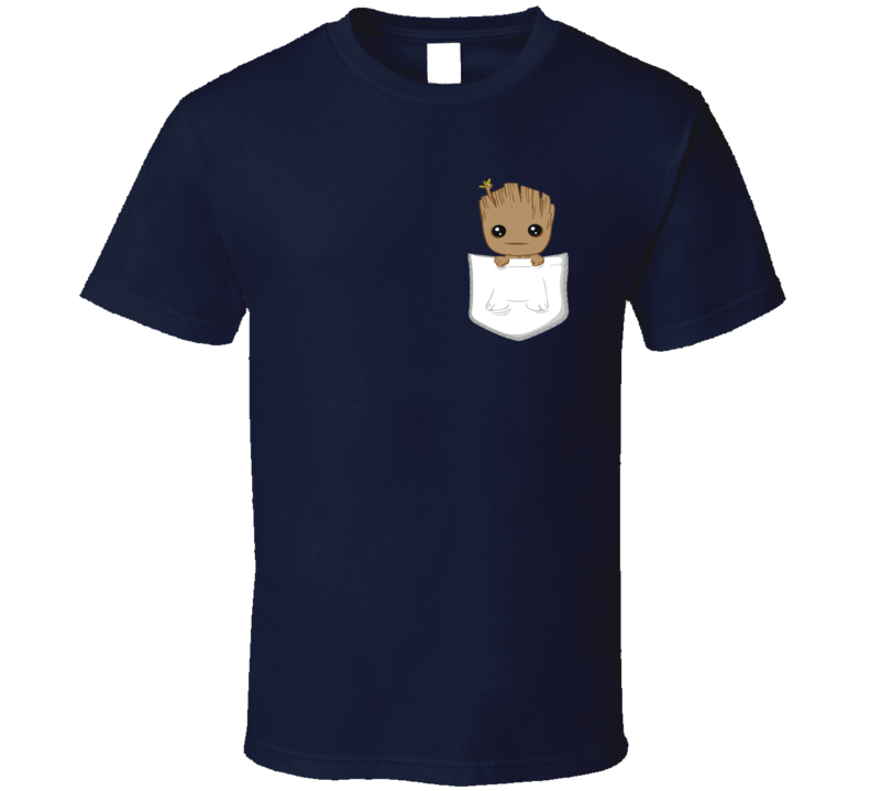 Guardians Of The Galaxy Men's Pocket Groot Cool Fan Gift T-shirt