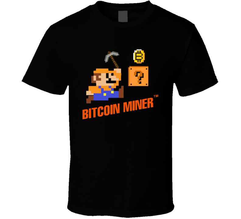 Bitcoin Miner Mario Cryptocurrency Video Game Gift T Shirt