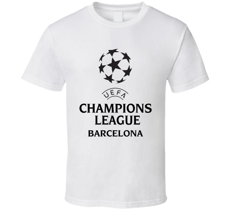 Barcelona Uefa Champions League Soccer Gift Fan T Shirt