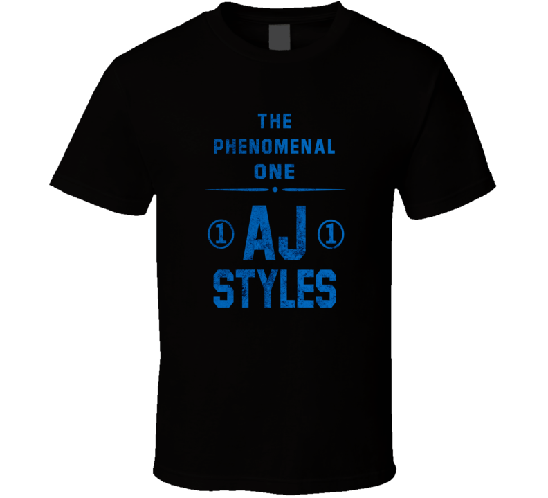 AJ Styles WWE Champion Wresting Fan Gift T Shirt