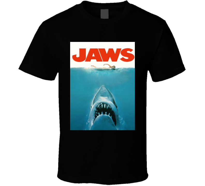Jaws Amity Island Movie Poster Cool Fan T Shirt
