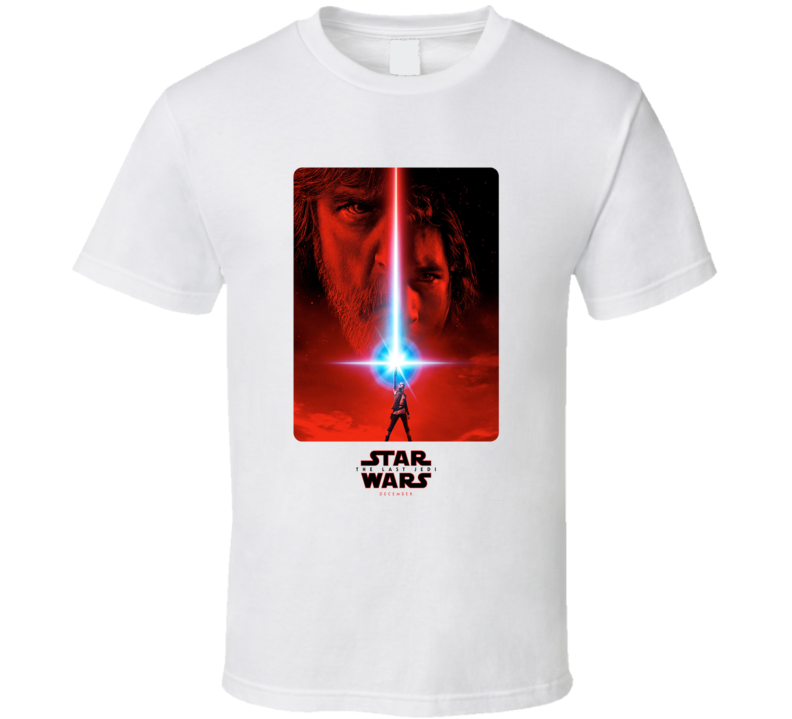 Star Wars The Last Jedi Episode 8 Poster Cool Fan T Shirt