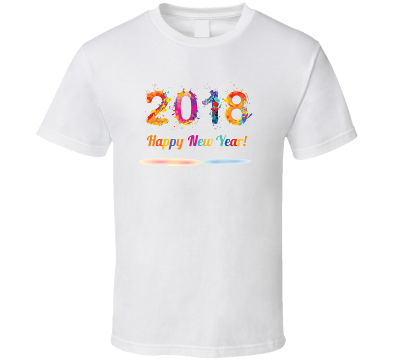 Happy New Year 2018 Holiday Cool Event T Shirt