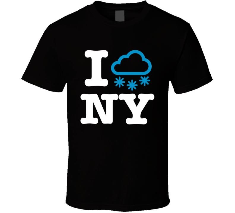 I Love New York City Snow Storm Funny Gift T Shirt