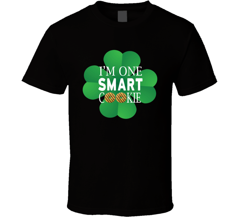I'm One Smart Cookie Girl Scouts St. Patrick's Day Clover Gift T Shirt