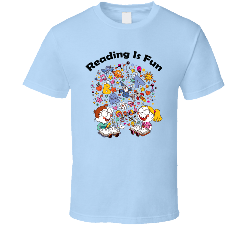Reading Is Fun Cool Kids Educational Cute Gift T Shirt