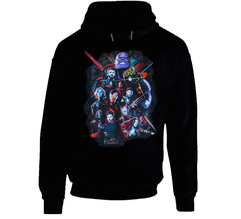 Infinity War Part I Marvel Movie Universe Super Fan Hoodie