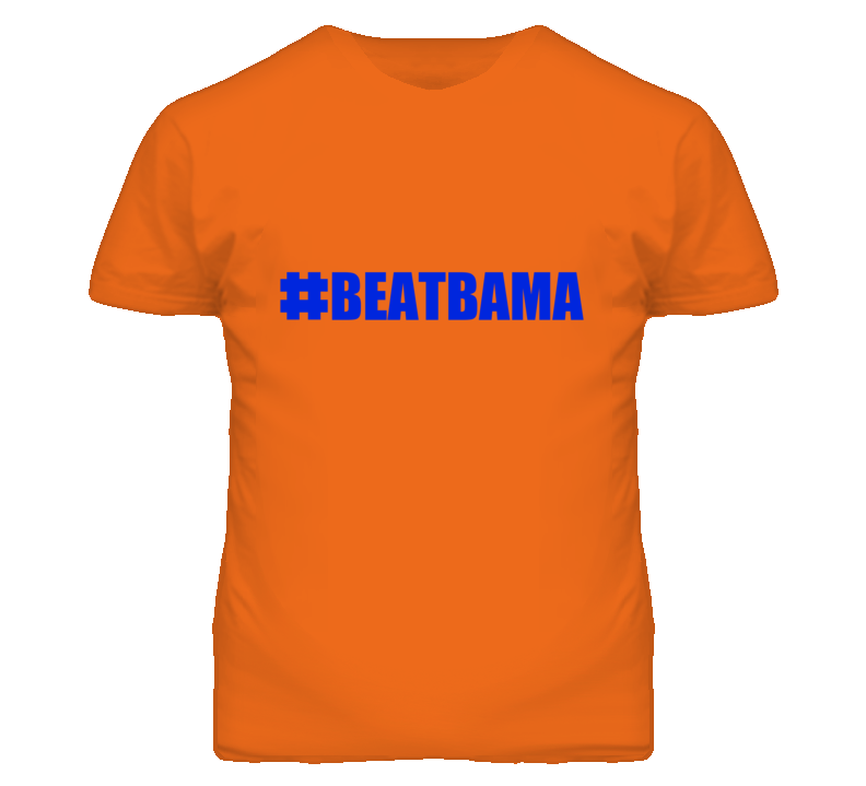 Hashtag Beat Bama #BeatBama Florida Football Fan T Shirt