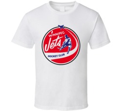 Winnipeg Jets Retro Wha Logo T Shirt