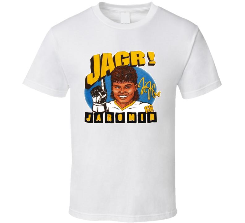 Jaromir Jagr Pittsburgh Hockey Caricature T Shirt