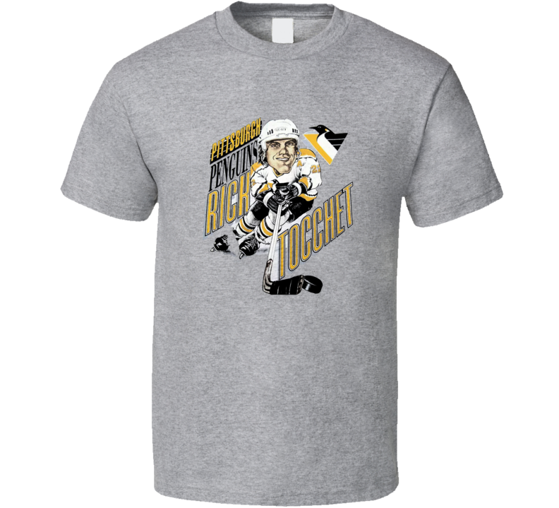 Rick Tocchet Retro Hockey Caricature T Shirt