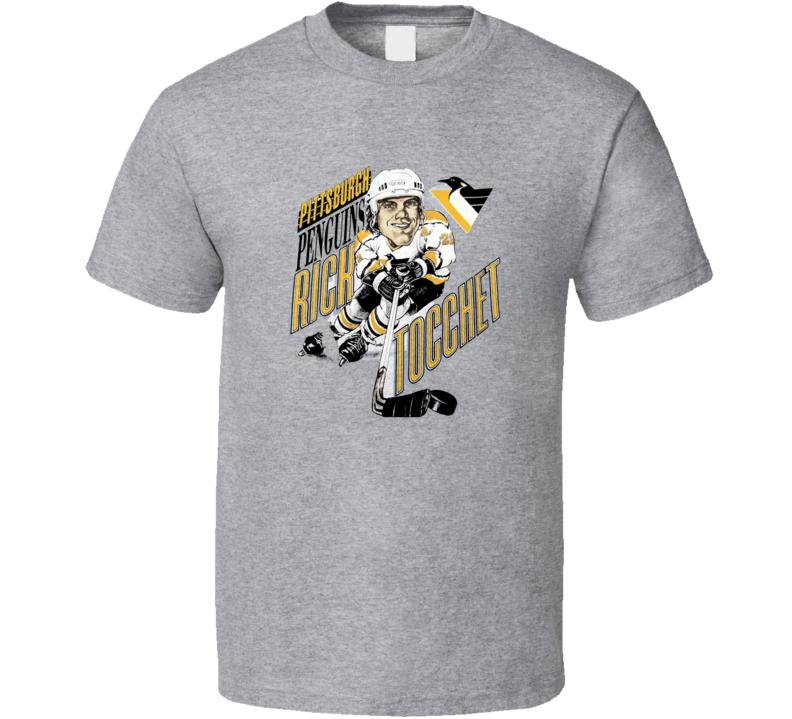 Rick Tocchet Retro Hockey Caricature T Shirt