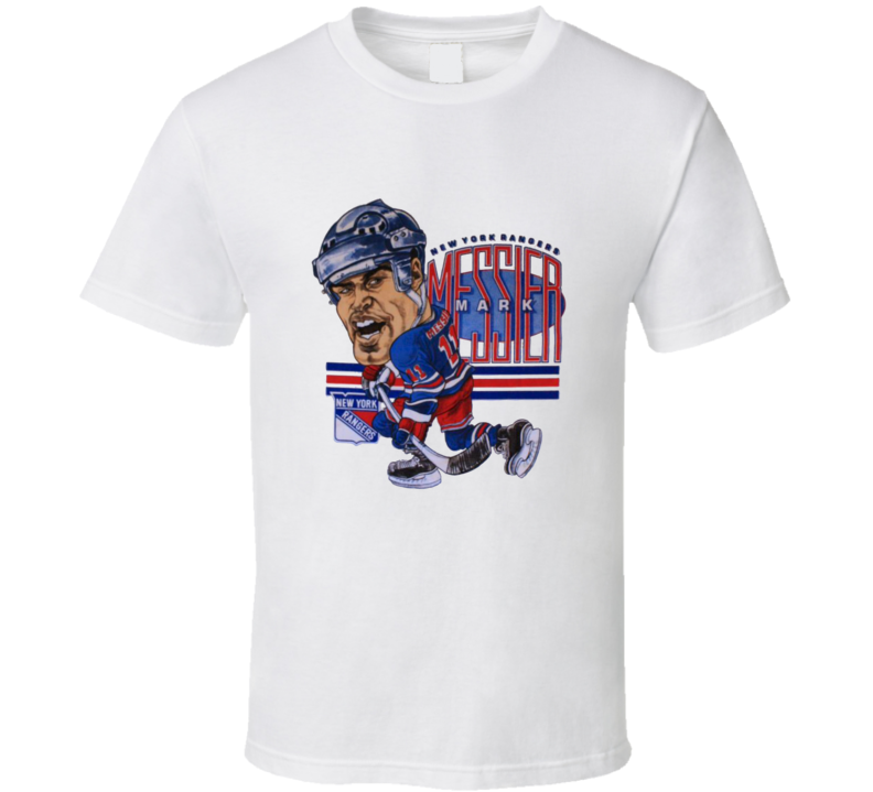 Mark Messier New York Hockey Caricature T Shirt