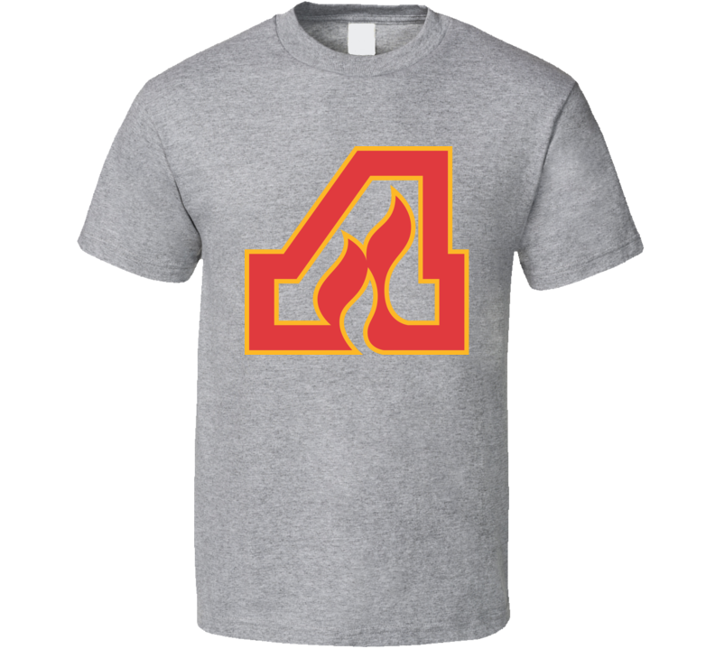 Atlanta Flames WHA Retro Hockey Logo T Shirt