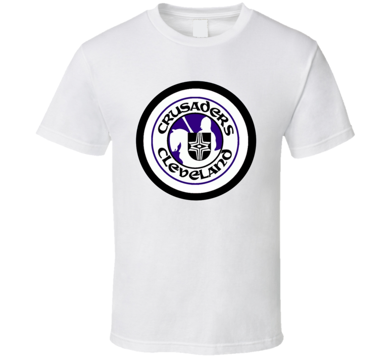 Cleveland Crusaders Logo WHA Retro Hockey T Shirt