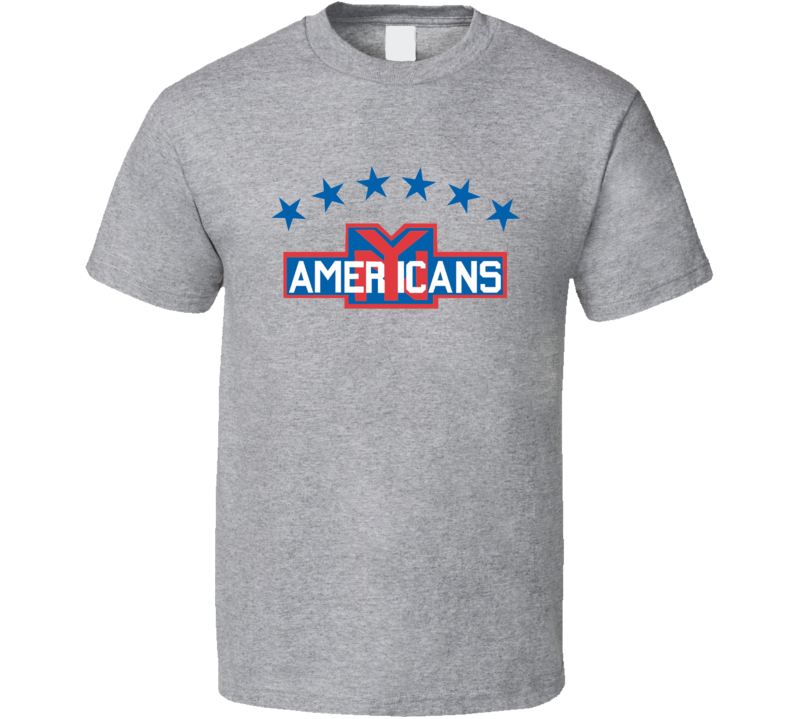 New York Americans Retro Hockey T Shirt