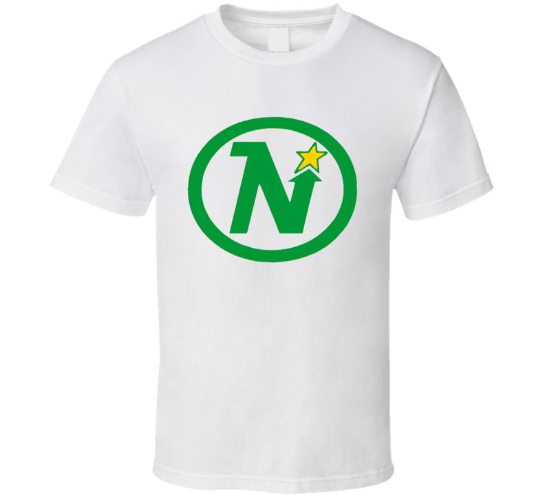 Minnesota North Stars Retro Hockey Logo T Shirt