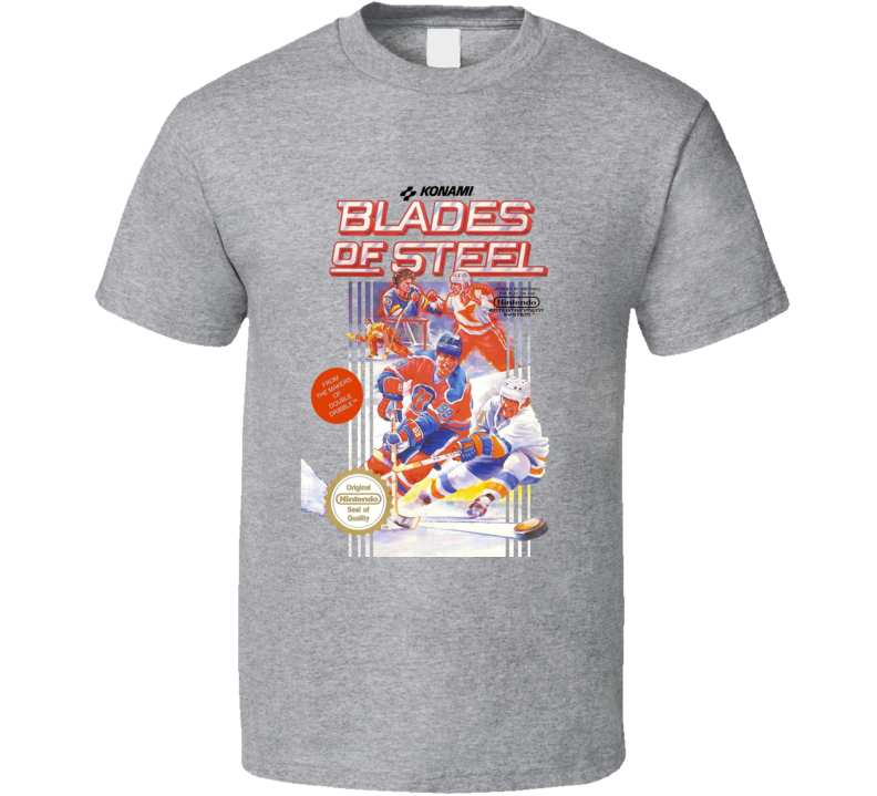 Blades Of Steel Nes Box Art Hockey Video Game T Shirt