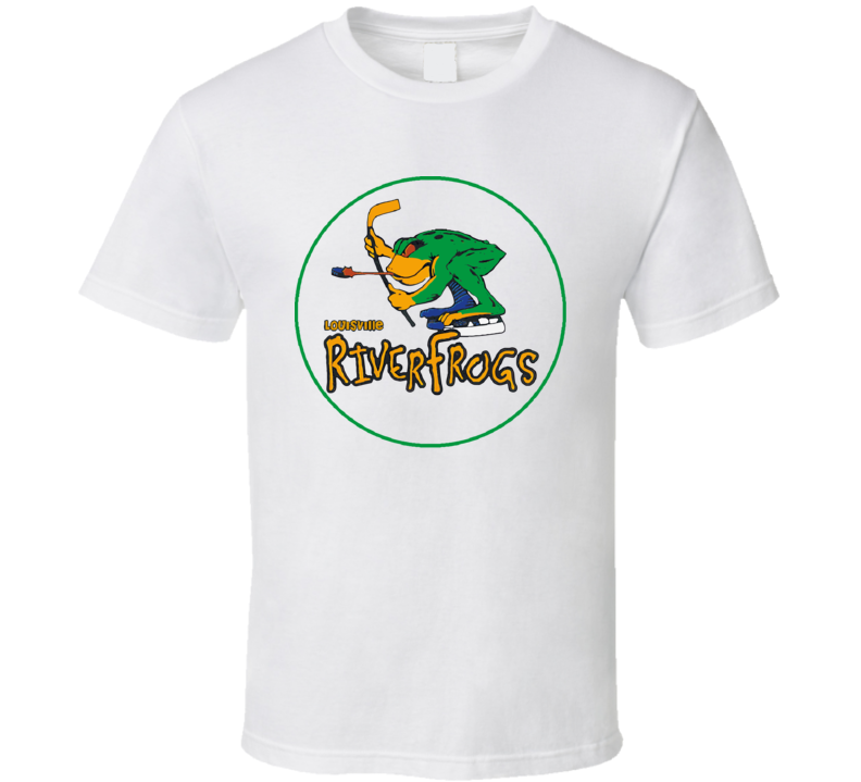 Louisville Riverfrogs Retro Hockey T Shirt
