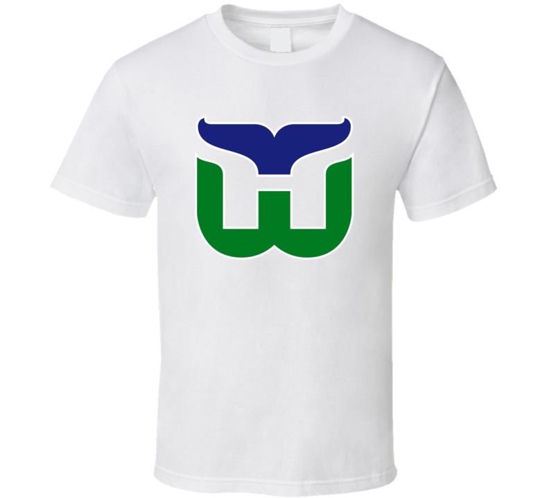 Hartford Whalers Retro Hockey Team Logo T Shirt