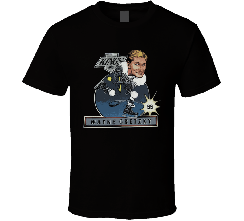 Wayne Gretzky Hockey Retro Caricature T Shirt