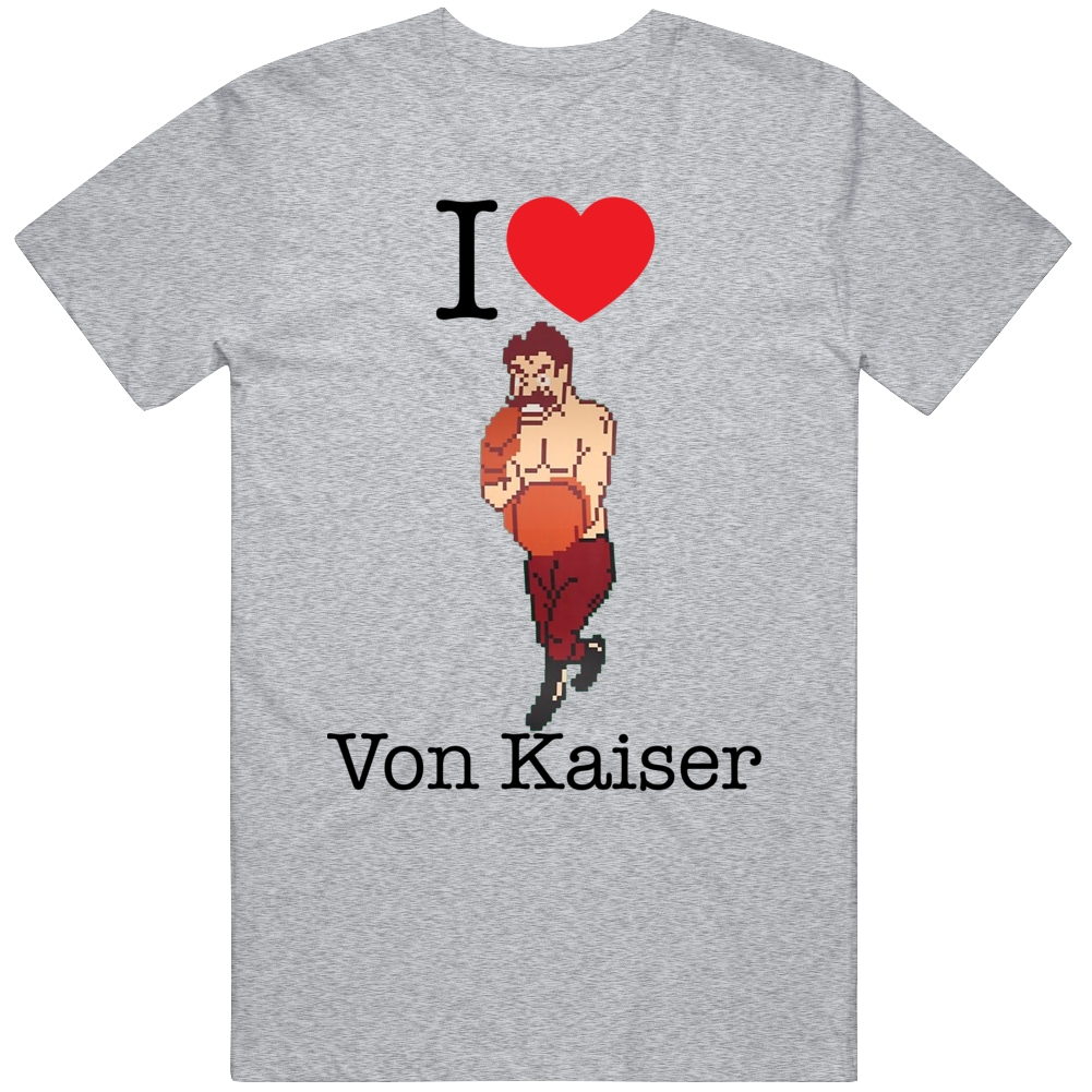 Von Kaiser I Love Heart Mike Tyson's Punch Out Video Game Boxing T Shirt