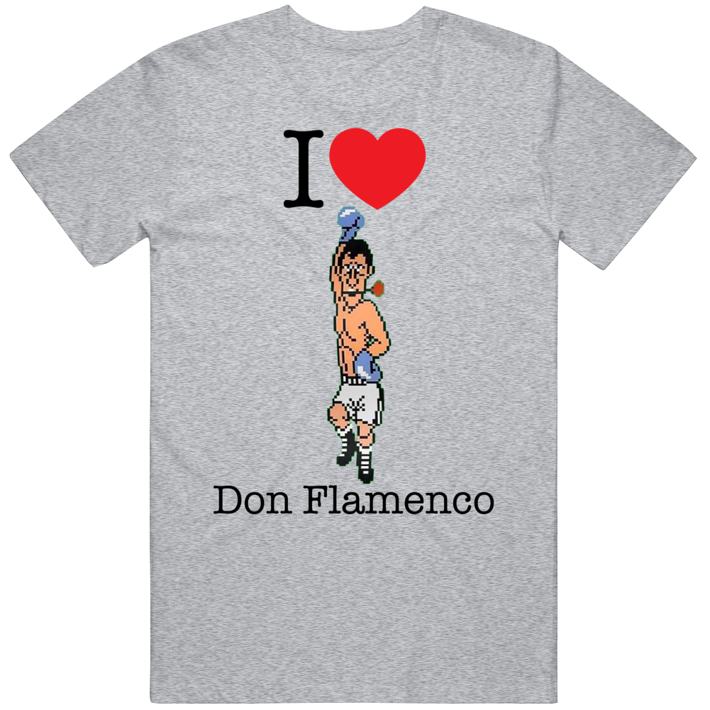 Don Flamenco I Love Heart Mike Tyson's Punch Out Video Game Boxing T Shirt