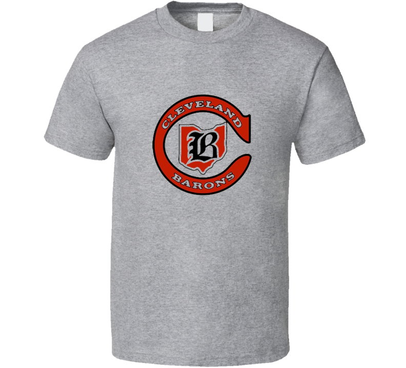 Cleveland Barons WHA Hockey Retro T Shirt - Grey