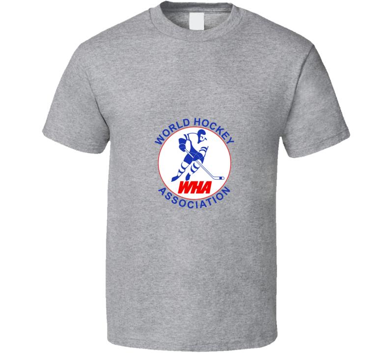 WHA World Hockey Association T Shirt - Grey
