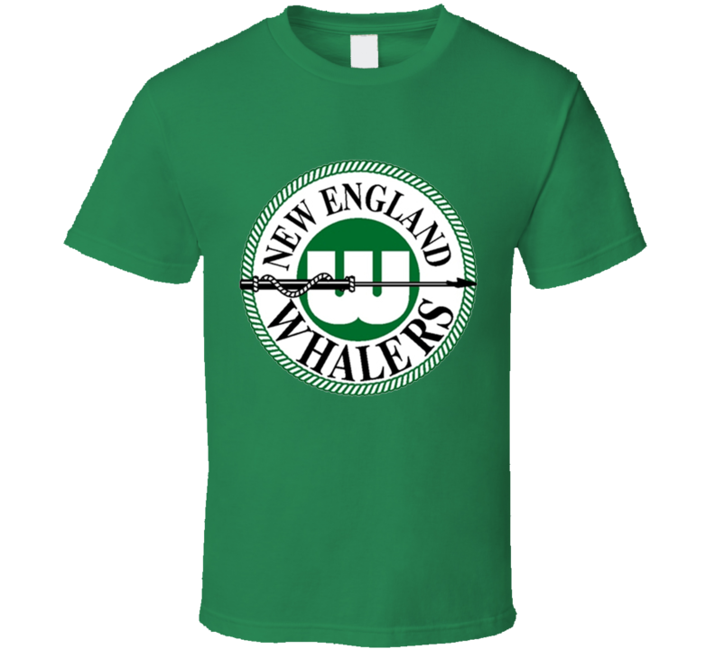 New England Whalers Retro WHA Hockey T Shirt - Green