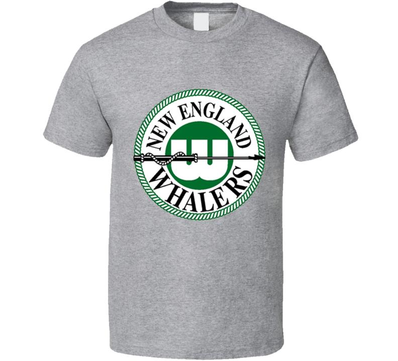 New England Whalers WHA Hockey T Shirt - GREY