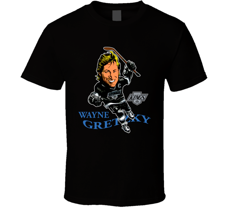 Wayne Gretzky Retro Hockey Caricature T Shirt