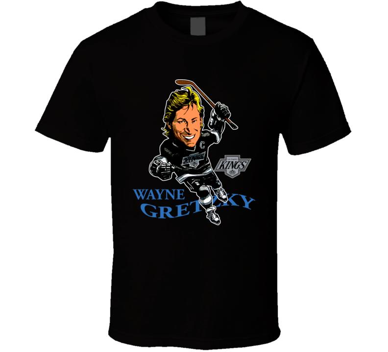 Wayne Gretzky Retro Hockey Caricature T Shirt