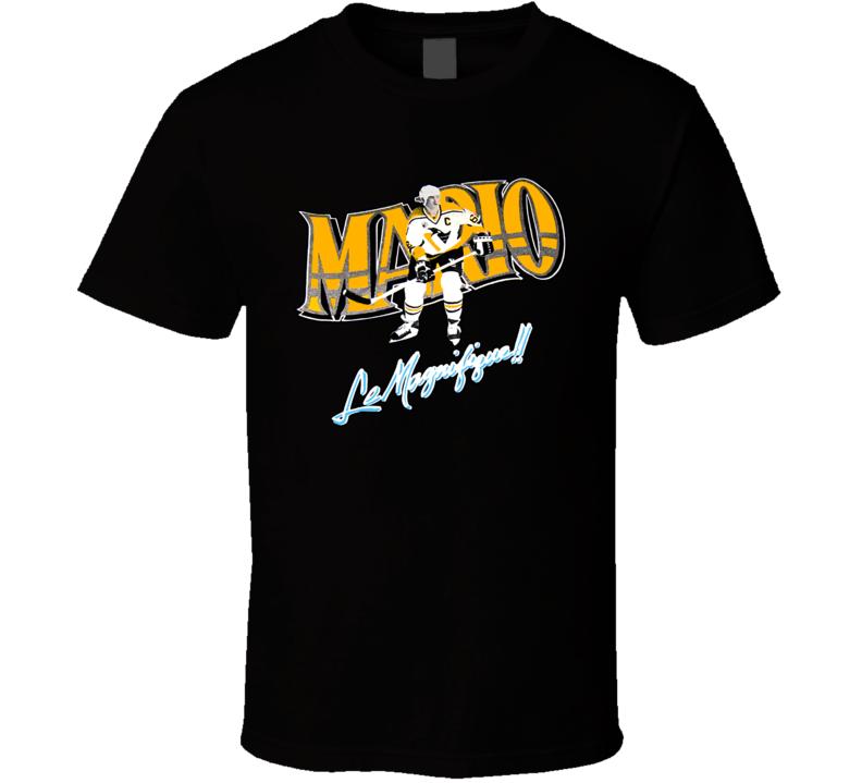 Mario Lemieux Retro Hockey Legend T Shirt