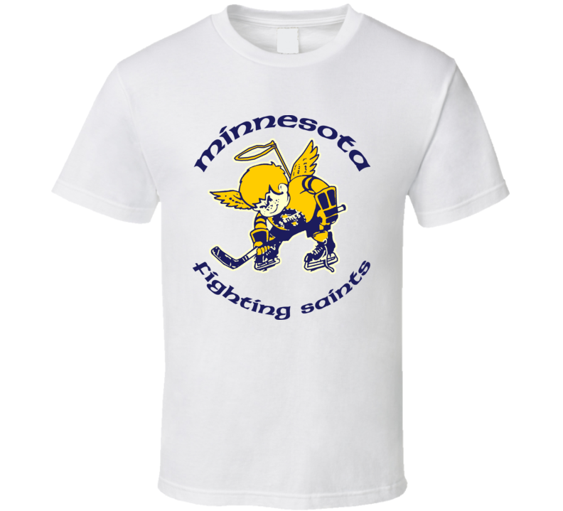 Minnesota Fighting Saints Retro Hockey T Shirt