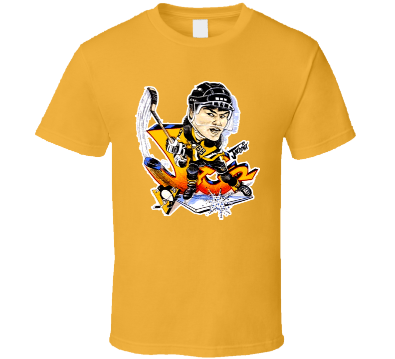 Jaromir Jagr Retro Hockey Caricature T Shirt