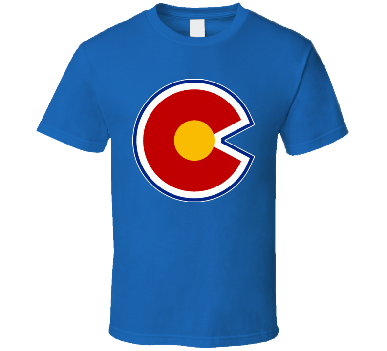 Colorado Rockies Retro Hockey Alternate Logo T Shirt