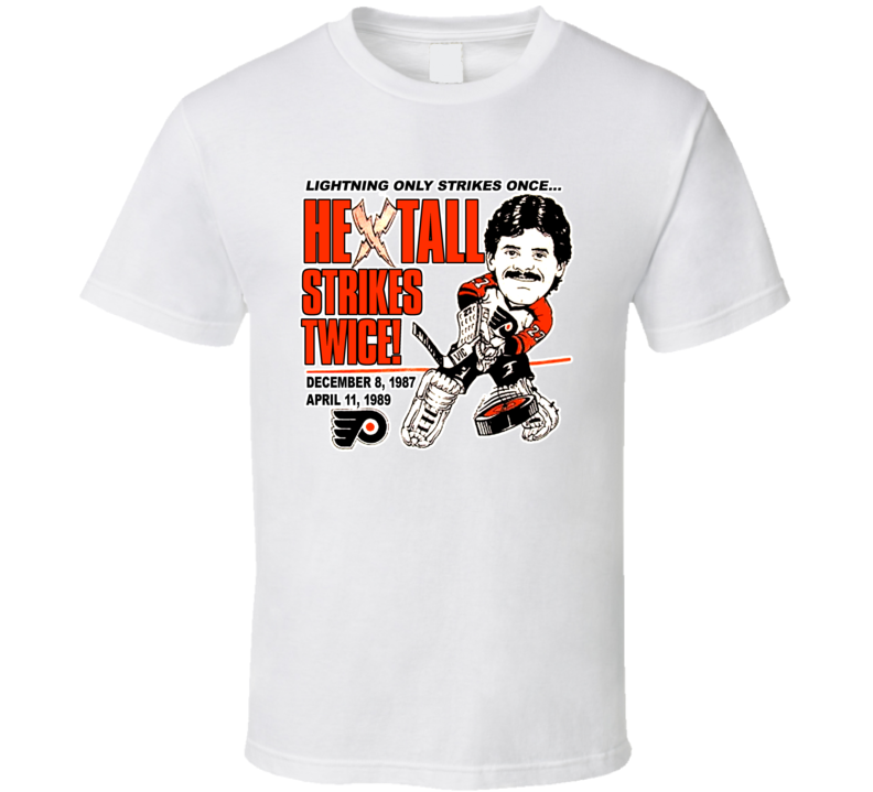 Ron Hextall Retro Hockey Caricature T Shirt