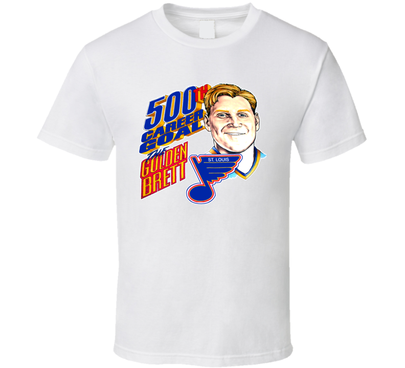 Brett Hull 500th Goal Hockey Caricature T Shirt