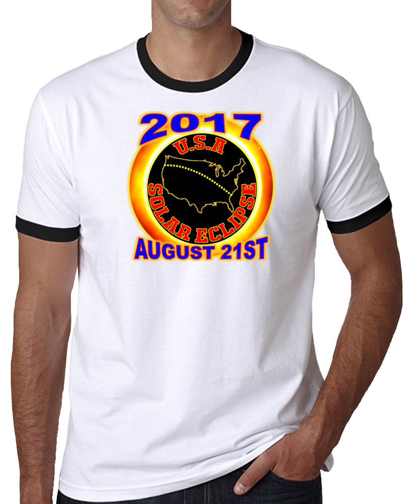 2017 Usa Total Solar Eclipse Star Gazer Tagless Tee T-shirt