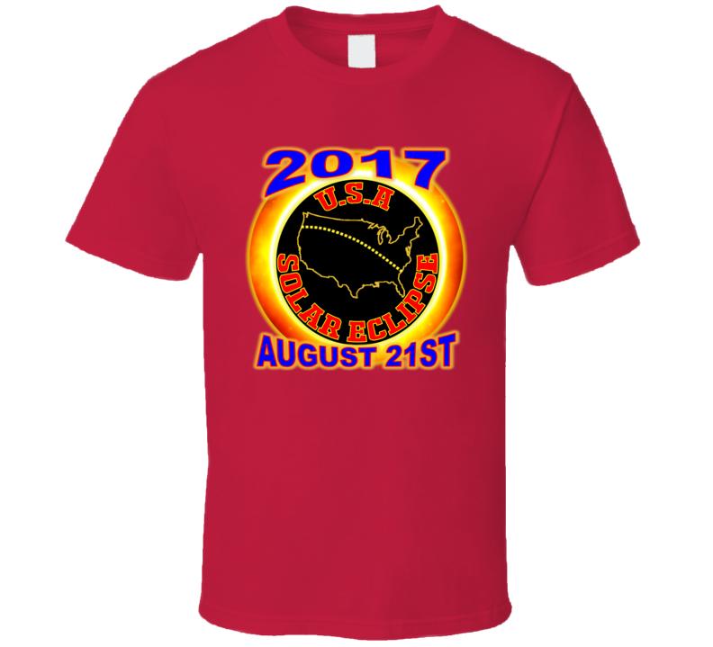 2017 Usa Total Solar Eclipse Star Gazer Tagless Tee T-shirt Kids