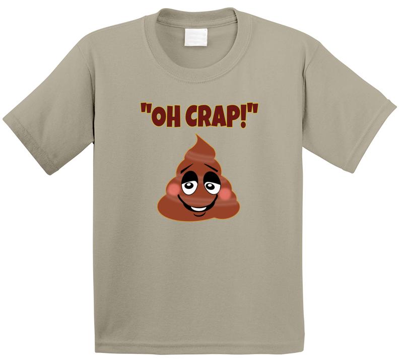 Funny Kid Emotion Poo Icon T Shirt