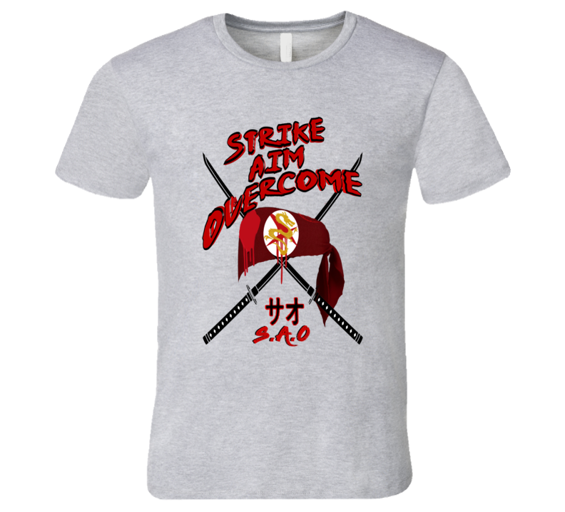 Sao - Strike Aim Overcome Gamer Tee T Shirt