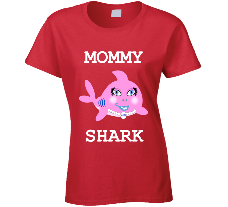 Cuteedoll.com Babyshark Mommy Shark Adult T Shirt